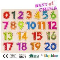 KIDS TOY Educational wooden puzzle for kids Number Board Colorful Wooden toy Best of China