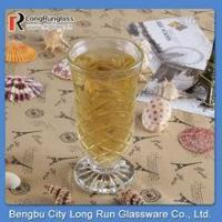 Buy cheap LongRun 188ml hot sell carved drinking glass /fancy fruit drinks glassware wholesale from wholesalers