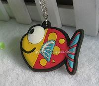 Buy cheap custom soft pvc fish shaped keychain made in china from wholesalers