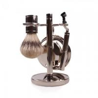 Buy cheap Hot sale synthetic hair shaving brush set with metal handle from wholesalers
