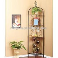 Buy cheap Tall Metal Wall Mounted Wine Racks Wine bottle Storage Stand with shelf from wholesalers