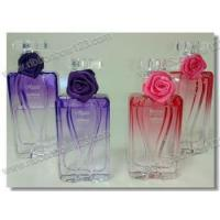 Buy cheap Ribbon Bows on Bottle perfume bottle satin ribbon rose with elastic loop from wholesalers