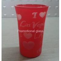 printed glass cup&mug Glass tumbler cup,promotional glass cup