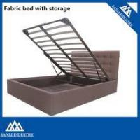 Buy cheap PU Bed Cheap King Size Bed Size Fabric Lift Up Storage Bed from wholesalers