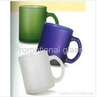 Buy cheap Glass Jars Frosted glass mug with handle from wholesalers