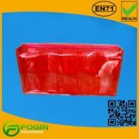 Buy cheap Transparent Red PVC Cosmetic Pouch With Zipper from wholesalers