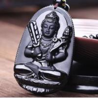 Buy cheap Obsidian the void Tibet bodhisattva pendant from wholesalers