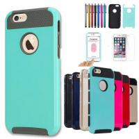 Buy cheap Shockproof Dual Layer TPU Hybrid Rugged Case Cover For iPhone 6 4.7 from wholesalers