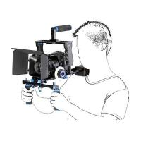 Buy cheap D221 Shoulder Rig +camera cage + F0 follow focus +matte box M1 from wholesalers