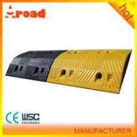 Buy cheap hotsale good quality yellow(black) Rubber portable speed bump round speed bump from wholesalers