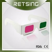 Buy cheap Paper Green Magenta 3D Glasses for Movies from wholesalers