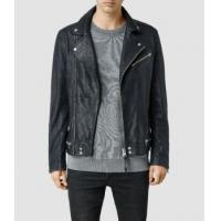 Buy cheap Leather Jacket Men's Lamb Biker Jackets With Zipper Closed from wholesalers