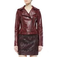 Buy cheap Leather Jacket Women Waxed Leather Jackets With Zipper from wholesalers