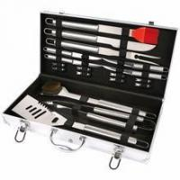 Buy cheap 19 pcs steel BBQ tool set with Aluminum case product