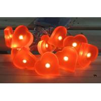 Buy cheap battery light 10L RED HEART LIGHT CHAIN from wholesalers