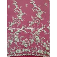 embroidery fabric for lady fashion dress