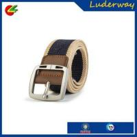 Buy cheap man's webbing belt canvas belt with high quality alloy buckle pu covered from wholesalers