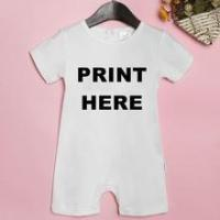 Buy cheap 2016 hot sale customized cotton short sleeve baby romper suit, No minimum quantity required! from wholesalers