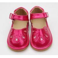 Buy cheap squeaky shoes Children Outdoor Toddler Sandal Shiny Red Girls Squeaky Shoe from wholesalers
