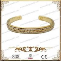 Buy cheap Hot Selling Gold Plating Copper Bracelet With Magnetic Therapy,Good For Health from wholesalers