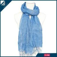 Buy cheap Blue Linen Scarf from wholesalers