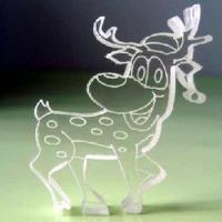 Acryli Plastic Outdoor White Christmas Reindeer Decorations