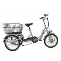 Buy cheap 20 inch allloy frame 3 wheel electric tricycle cargo bike from wholesalers