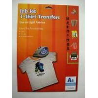 Buy cheap paper Light Inkjet Iron-on Transfer Paper from wholesalers