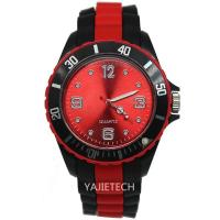Buy cheap WRIST WATCH YJ508 double colors silicone strap watch from wholesalers