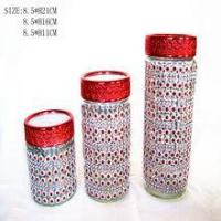 Buy cheap red tea coffee sugar canisters from wholesalers