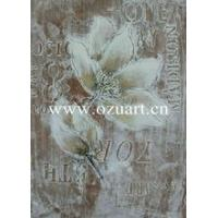 Buy cheap Handmade Beautiful Flower Abstract Oil Painting on canvas from wholesalers
