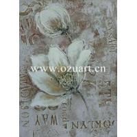 Buy cheap Handmade Beautiful Flower Abstract Oil Painting from wholesalers