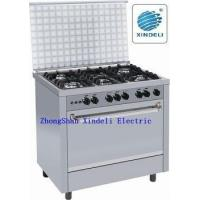 Buy cheap Free standing gas cooker with cast iron pan support from wholesalers