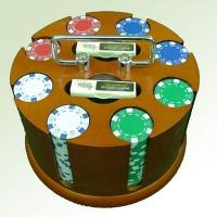 Buy cheap Poker Chip set MODEL: HN-S201,200 poker set revolving rack3 from wholesalers