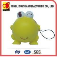 Buy cheap PU Stress Toys Factory custom Mini keychain frog Cartoon action figures for baby toy from wholesalers