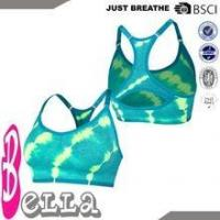 Buy cheap fresh green nylon/spandex padded girl sport seamless hot sexy xxxx sports bra from wholesalers
