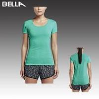 Buy cheap Ladies Gym Wear Top quality bodybuilding sportswear women fitness/gym wear sports tshirt from wholesalers