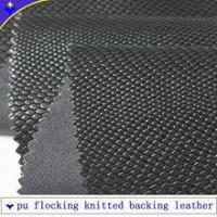 Buy cheap 0.9mm thickness flocking leather with knitted backing product