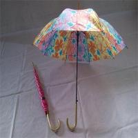 Buy cheap Kid's umbrellas YS-0073Polyester Colorful Gold-plating hook handle childrens umbrella kids umbrella from wholesalers
