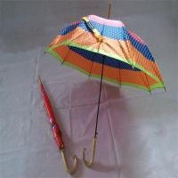 Buy cheap YS-0075Satin Gold-plating hook handle 19 inch childrens umbrella kids umbrella from wholesalers