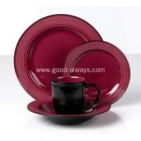 Buy cheap Color glazed 16pcs ceramic stoneware embossed dinner set product