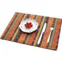 Buy cheap Asian Countryside Style Cotton Green Red interphase Lines Placemats from wholesalers