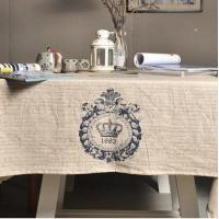 Buy cheap Korean Style Letter 1682 Buff Cotton Tablecloth Table Cover from wholesalers