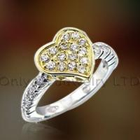 Buy cheap Womens Gift Cz Sterling Silver Ring OAR0170 from wholesalers