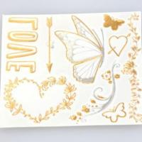Buy cheap Custom radiant gold and silver heart shaped temporary tattoos flash gold tattoos from wholesalers