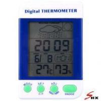 Buy cheap Large Screen multifunction Digital C/F Thermo-Hygrometer with alarm and weather from wholesalers