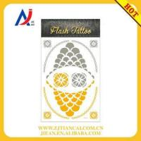 Buy cheap wholesale tattoo bracelet body art shiny gold temporary flash tattoos from wholesalers