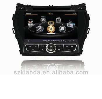 Quality S100 platform 8 inch Car DVD Hyundai IX45 , hyundai Santa Fe 2013 for sale