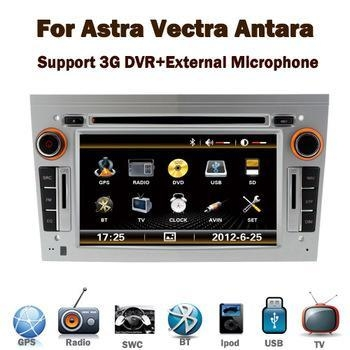 Quality In Stock 3G silver 7 in dash 2din car dvd player gps navigation for Opel Vectra Astra Zafira Corsa for sale
