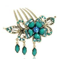 Buy cheap Hair Accessories Retro Flower Shape Decorative Hair Comb CS11 from wholesalers